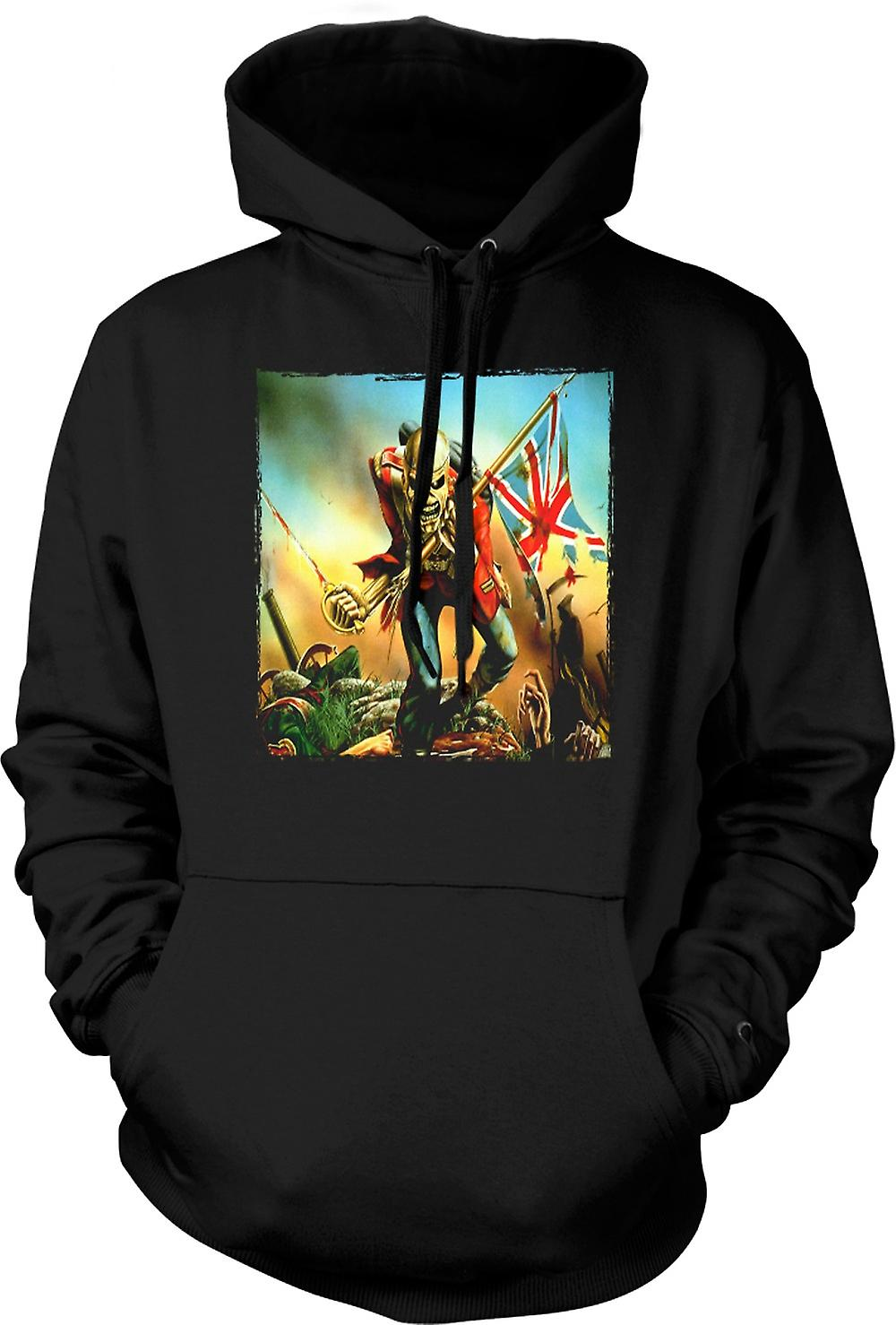 Mens Hoodie - Iron Maiden - Trooper - Album Art