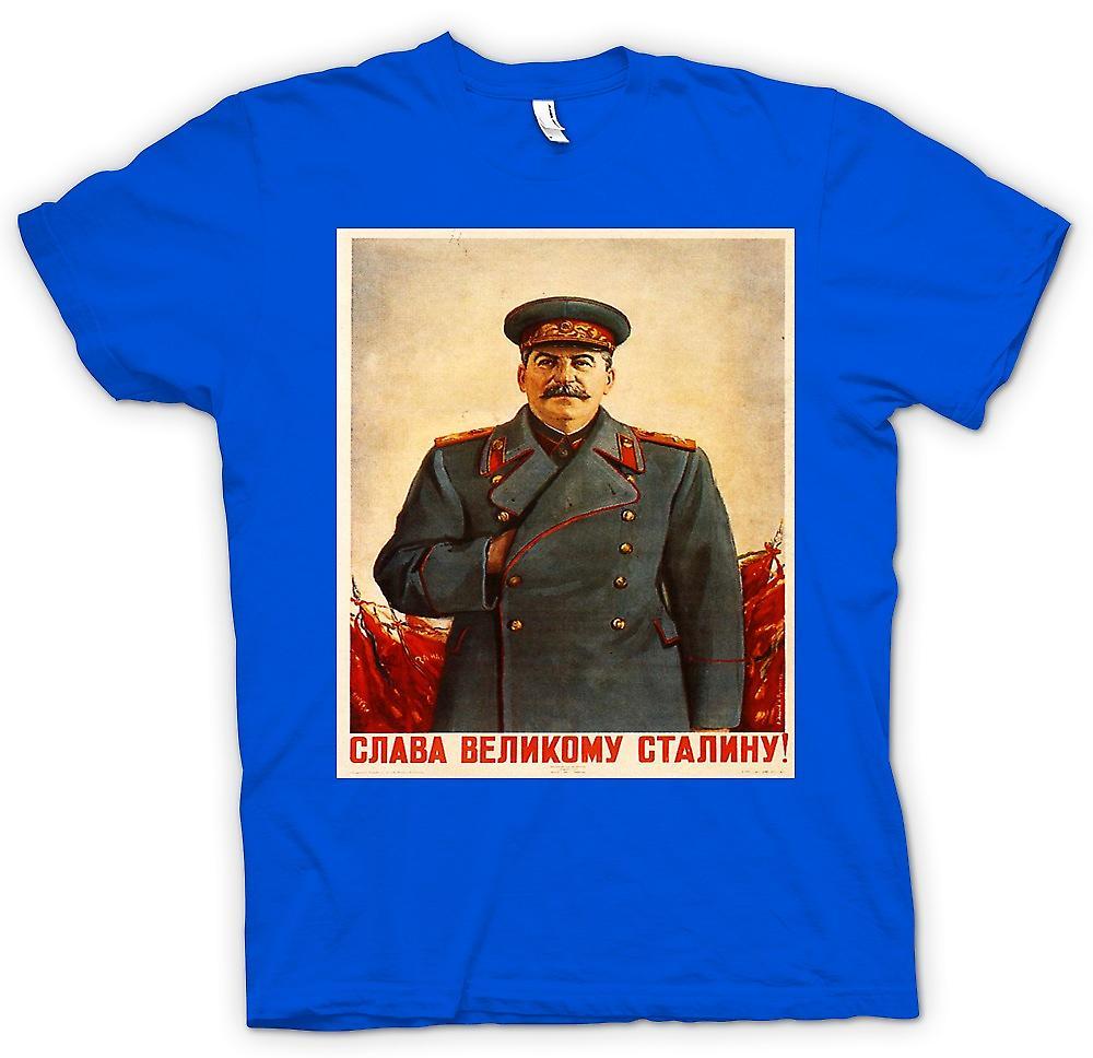 Heren T-shirt - Russische Propaganda Poster - Stalin