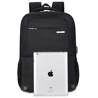 Black backpack made of durable fabric SJL1096 43x31x15 cm
