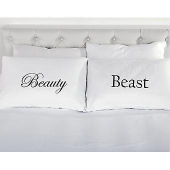 الجمال والوحش زوج وسادات