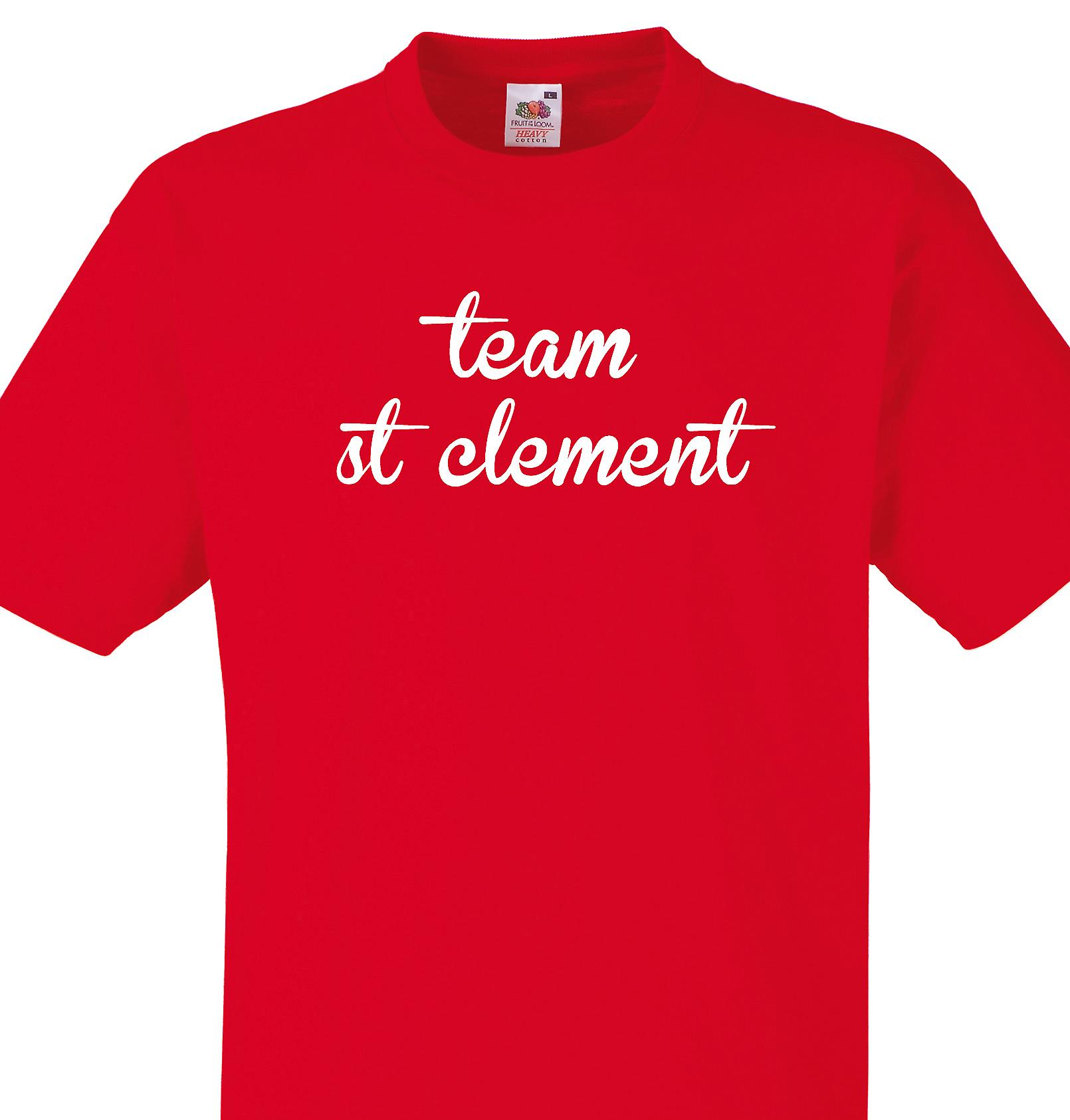 Team St clement Red T shirt
