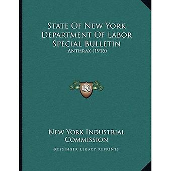State of New York Department of Labor Special Bulletin: Anthrax (1916)