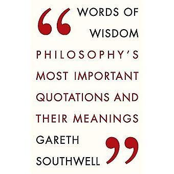 Paroles de sagesse: citations plus Important de la philosophie et leur signification