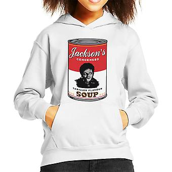 Michael Jacksons Thriller Soup Andy Warhol Inspired Kid's Hooded Sweatshirt