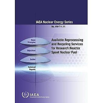 Available Reprocessing and Recycling Services for Research Reactor Spent Nuclear Fuel