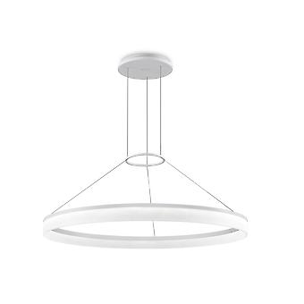 Circ White Large One-Tiered LED Standard Ring Pendant - Grok 00-3642-BW-M3