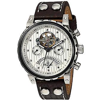 Burgmeister-wrist watch, men's brown leather Man