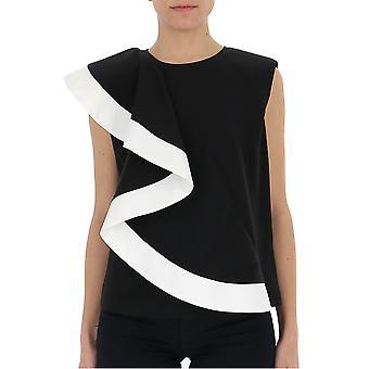 Givenchy weiß/schwarz Seide Top