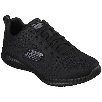 Skechers Mens Elite Flex Clear Leaf Air Cooled Trainers
