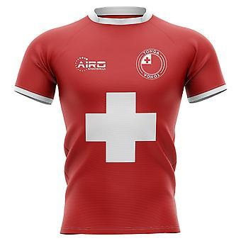 2019-2020 Tonga bandeira conceito camisa de Rugby