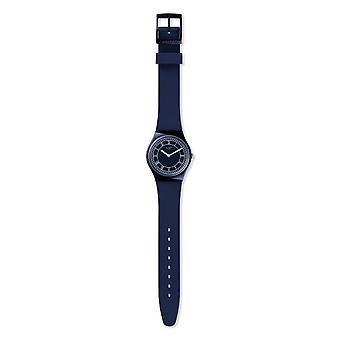Swatch Gn254 blå Ben blå silikon klocka