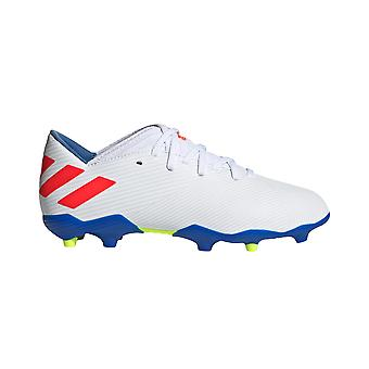 adidas Nemeziz Messi 19.3 FG Firm Ground Kids Football Boot White/Red/Blue