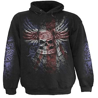Spiral Direct Gothic UNION WRATH - Hoody Black|Skulls|Flag