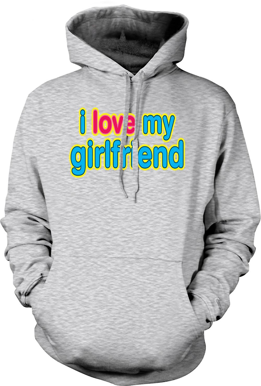 Mens Hoodie - I Love My Girlfriend - Funny