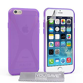 YouSave Accessories iPhone 6 and 6s Silicone Gel XLine Case Purple