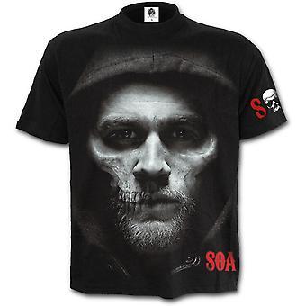 Spirale - crâne de jax - fils de l'anarchie short sleevet-shirt noir