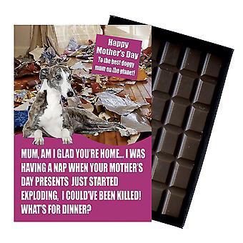 Whippet ägare hundälskare mors dag present choklad present till mamma nyhet UK