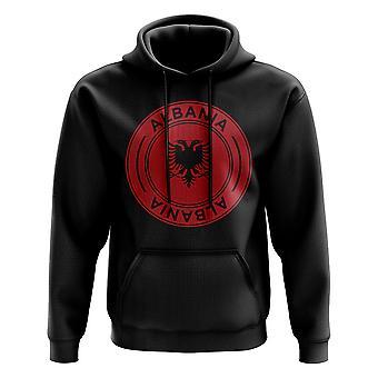 Albania Football Badge Hoodie (Black)