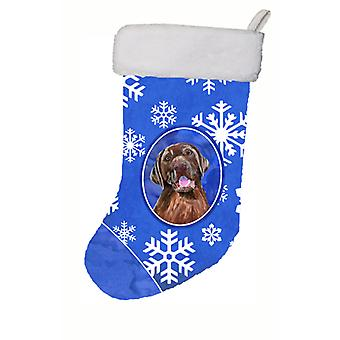 Labrador Winter Snowflakes Christmas Stocking SC9384