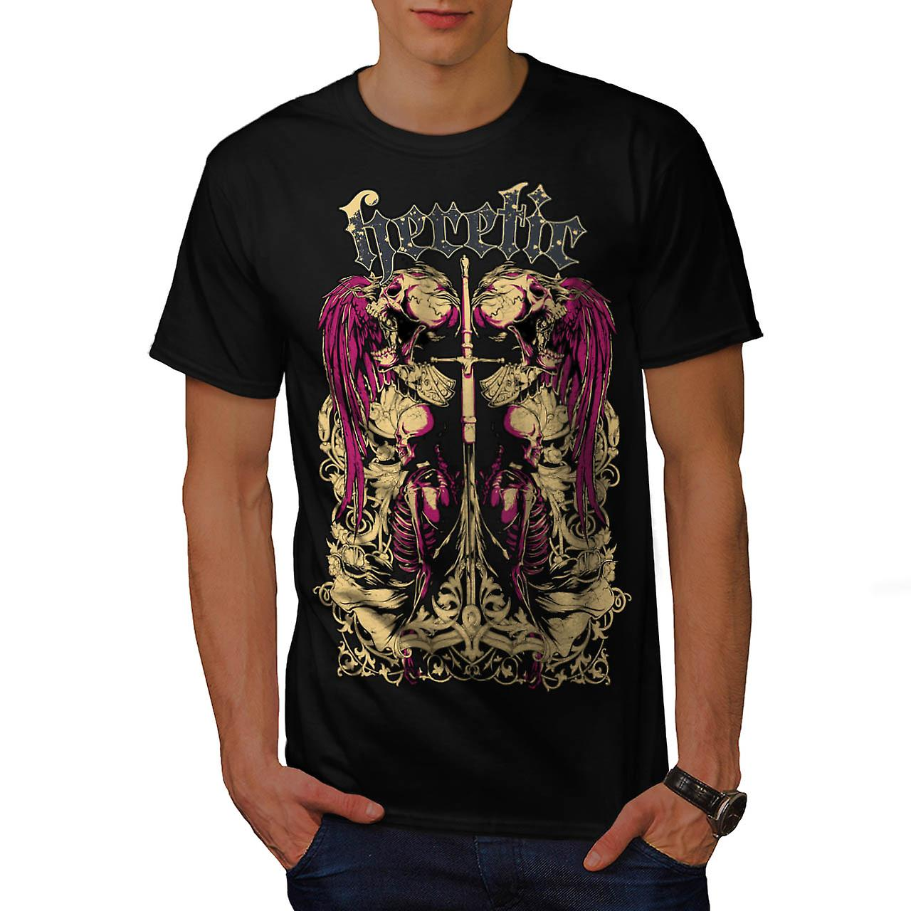 Heretic Dead Angel Horror Men Black T-shirt | Wellcoda