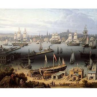 Stampa del manifesto del porto di Boston da Robert Salmon