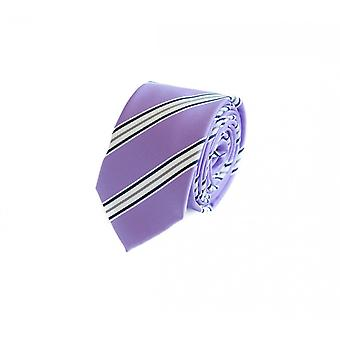 Narrow tie v. Fabio Farini in purple white