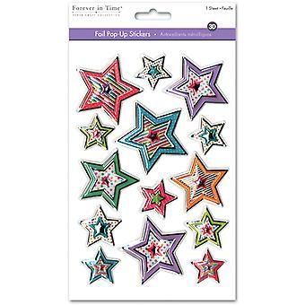 MultiCraft 3D Foil Pop-Up Stickers-Star Medley SS068A
