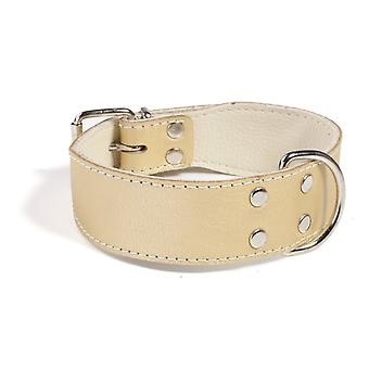 Doggy Things Plain Leather Dog Collar Gold 30cm