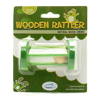 Natural Wood Chews Wooden Rattler Circle