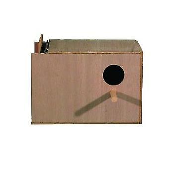 Højre hånd Budgie reden boksen 23x15x15cm (9 x 6 x 6