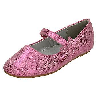 Piger Cutie flad Ballerina sko med sløjfe detalje