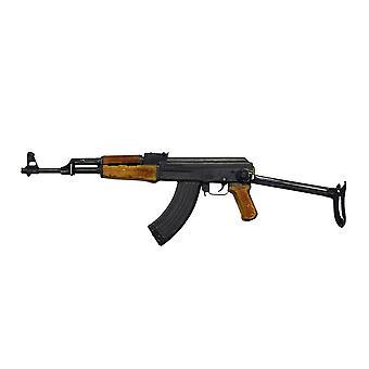 Russische AK-47 assault rifle met opvouwbaar metalen kont Poster Print