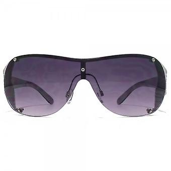 Carvela Metal Trim Visor Sunglasses In Silver