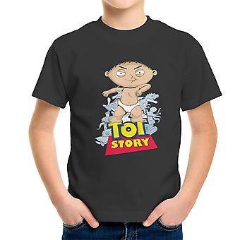 Baby Power Stewie Tot Story Kid's T-Shirt