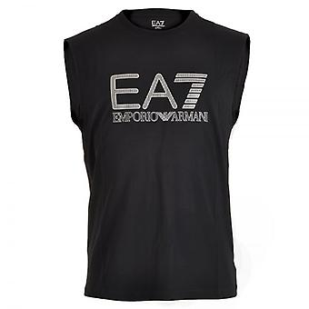 EA7 Emporio Armani Train Visibility Logo Tank Top , Night Blue, X-Large