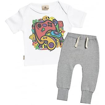 Spoilt Rotten Gamer Baby T-Shirt & Joggers Outfit Set