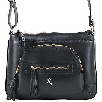Ashwood læder lille Cross Body taske Ela 1261-sort/vt