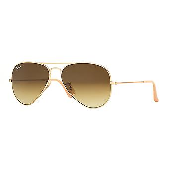 Ray-Ban Aviator lunettes de soleil Gold Gradient - RB3025-112/85-55