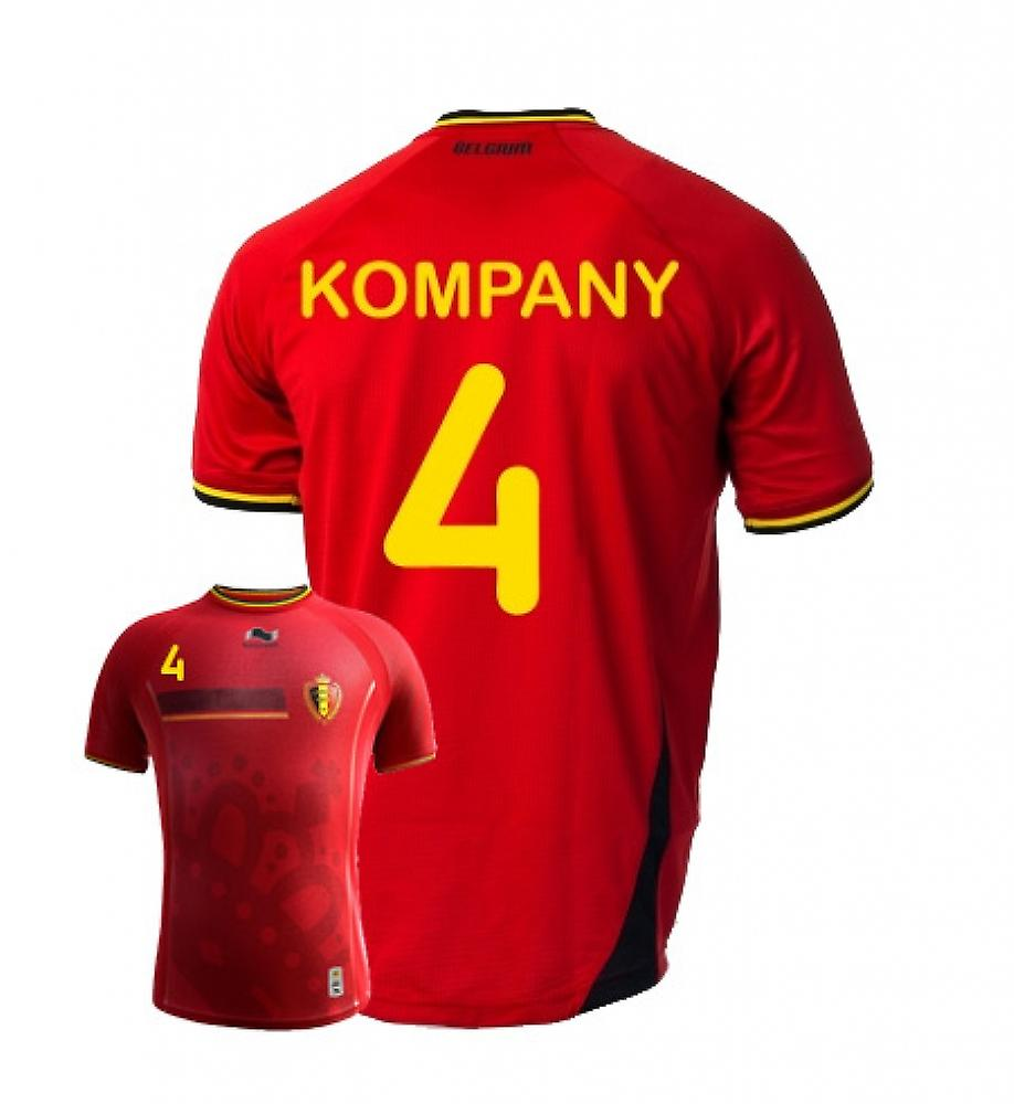 2014-15 Belgium World Cup Home Shirt (Kompany 4) - Kids