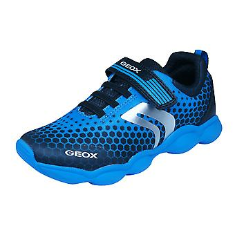 Geox J Munfrey B.D Boys Trainers / Shoes - Blue and Black