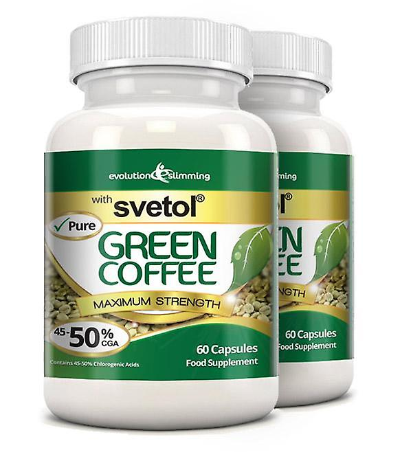 Pure Svetol Green Coffee Bean with 50% CGA - 120 Capsules - Fat Burner and Antioxidant - Evolution Slimming