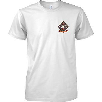 USMC 1 Recon Insignia-Swift Silent mortal-fuzileiros navais dos EUA-Mens design Chest T-shirt