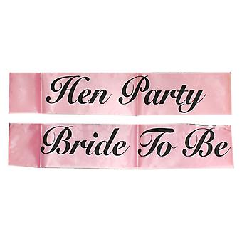 Ladies' Night Hot Pink Satin Sash With Black Writing Hen Party Accessory