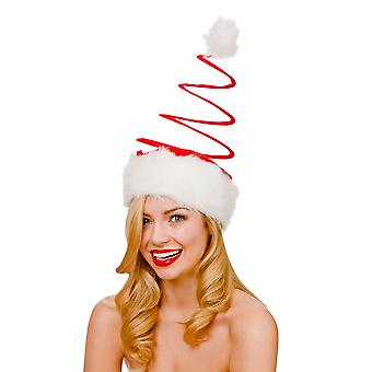 Large Spiral Santa Hat Christmas Fancy Dress Accessory