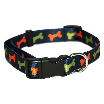 Rosewood Wag N Walk Bone Nylon Dog Collar