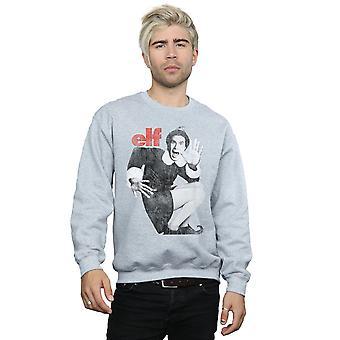 Elf Men's Mono Distressed Poster Sweatshirt