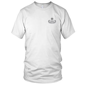 US Army - Eod Explosive Ordnance smaltimento Master distintivo argento ricamato Patch - Mens T-Shirt