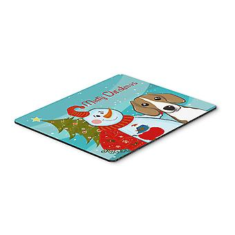 Carolines Treasures  BB1859MP Snowman with Beagle Mouse Pad, Hot Pad or Trivet