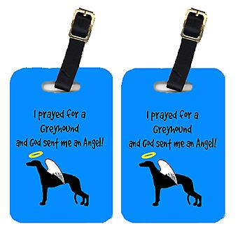 Carolines Treasures  AN1037BT Pair of 2 Greyhound Luggage Tags