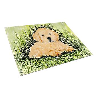 Carolines Treasures  SS8476LCB Golden Retriever Glass Cutting Board Large